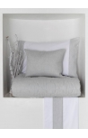 Pintuck Grey fishbone  bed linen set