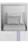 Pintuck Grey fishbone  bed linen set